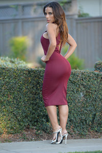Dangerously In Love Dress - Burgundy