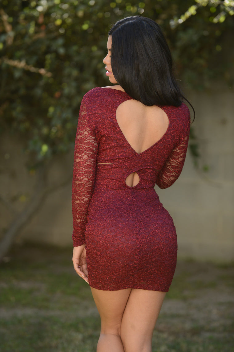 Enchanted Dress - Burgundy (1st Cut)