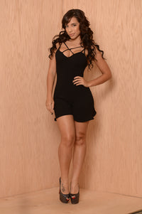 Sugar Crush Romper - Black