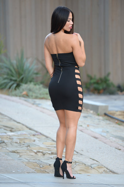 Strapped to Perfection Dress - Black