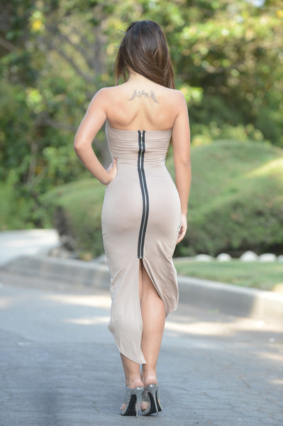 Evangeline Dress - Taupe
