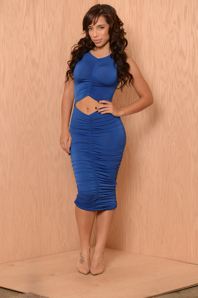 Scrunch Dress - Royal