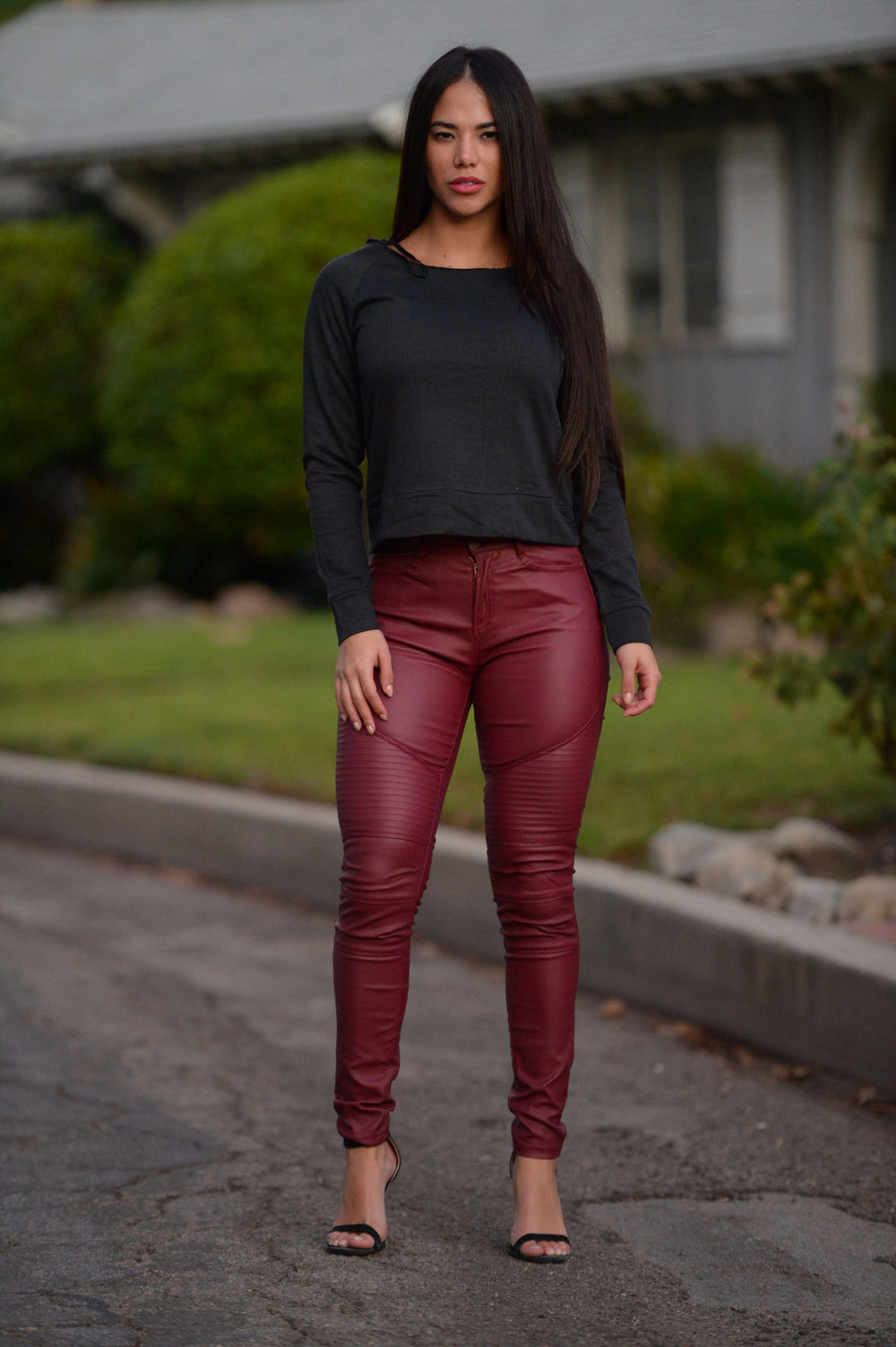 Pulp Fiction Pants - Burgundy