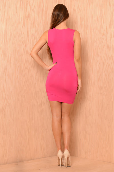 Crazy In Love Dress - Fuchsia