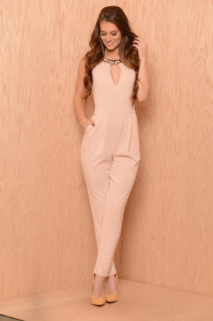 Chunk Change Jumpsuit - Blush