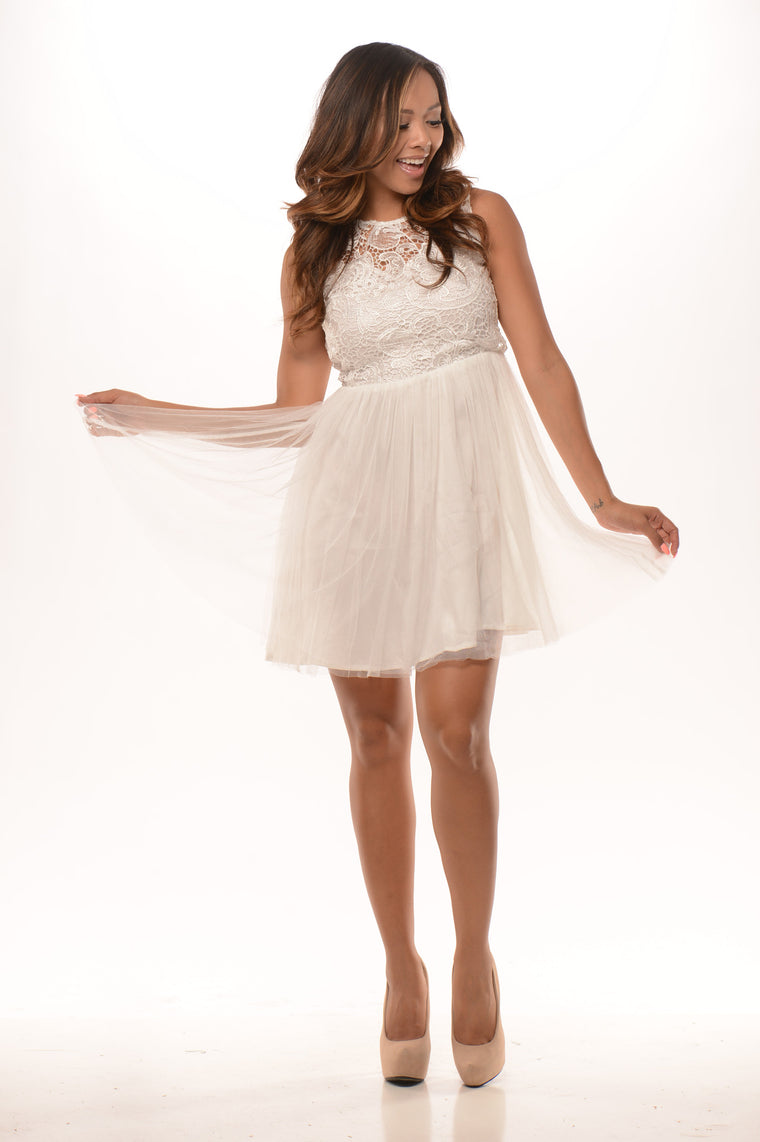 Majestic Dress - Ivory