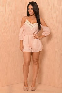 Once Upon a Time Romper - Blush