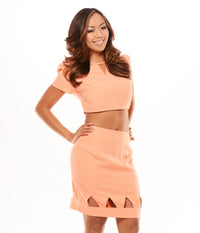 Acute Crop Top - Peach