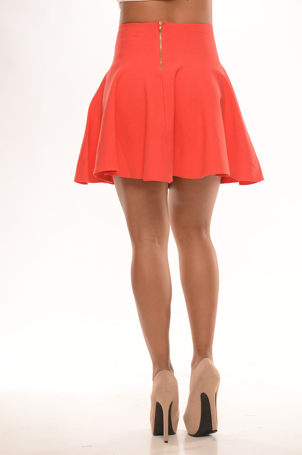 Zip Me Skater Skirt - Grapefruit