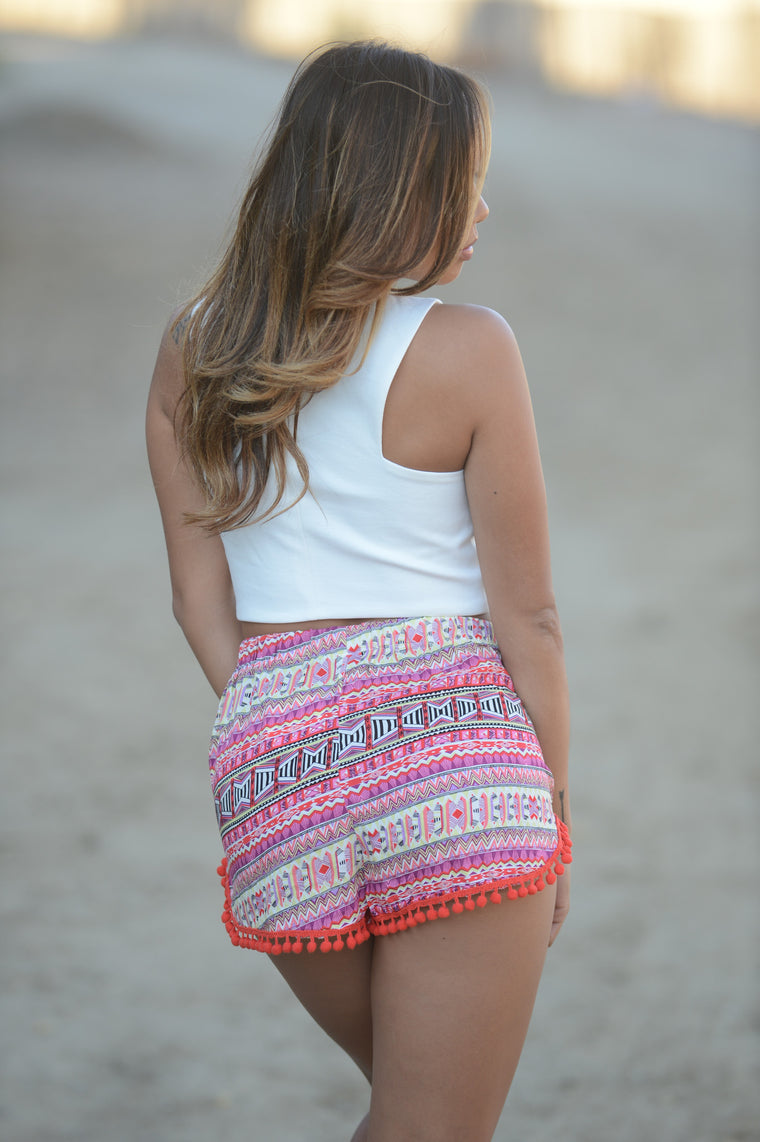 Tribal my Belle Shorts - Red