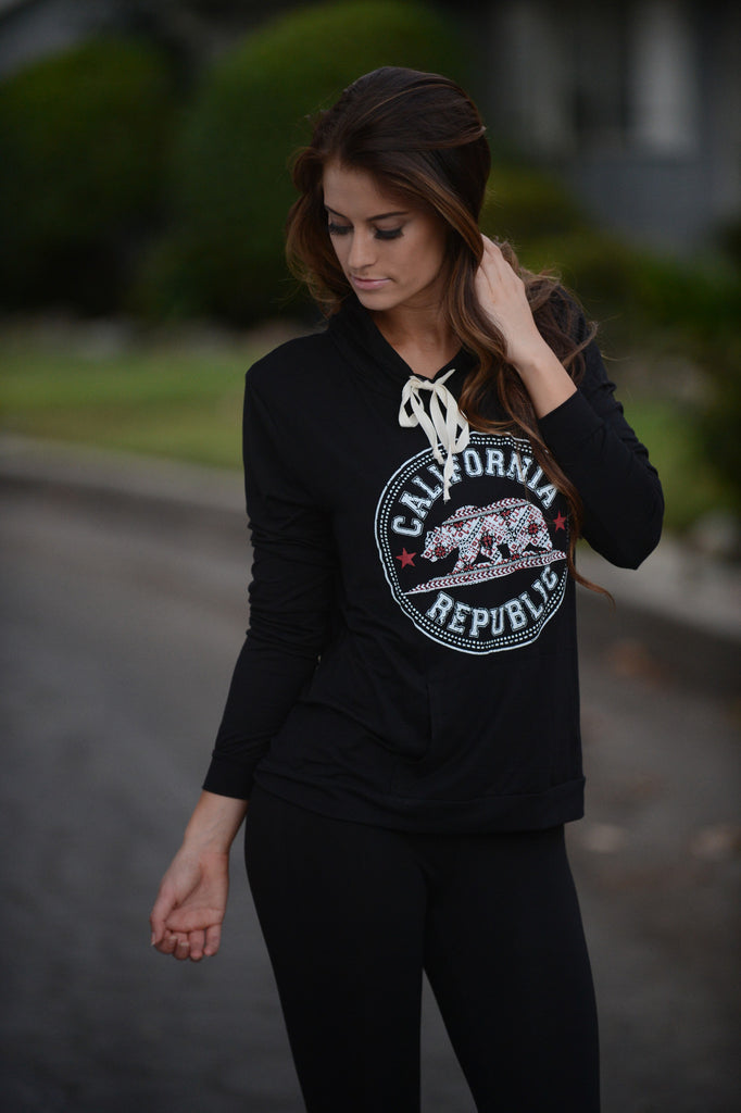 California Republic Hoodie - Black