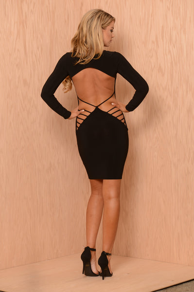 Bring Sexy Back Dress - Black