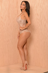 Unconditional Lace Bodysuit - Nude