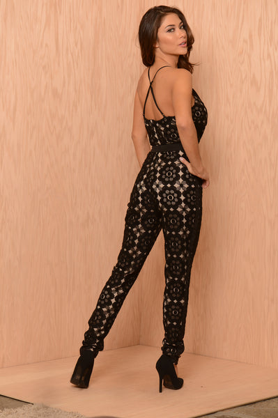 Hazy Daisy Jumpsuit - Black