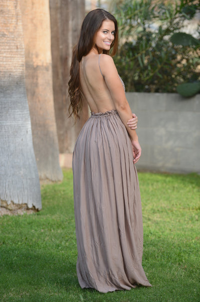 Ancient Rome Dress - Mocha
