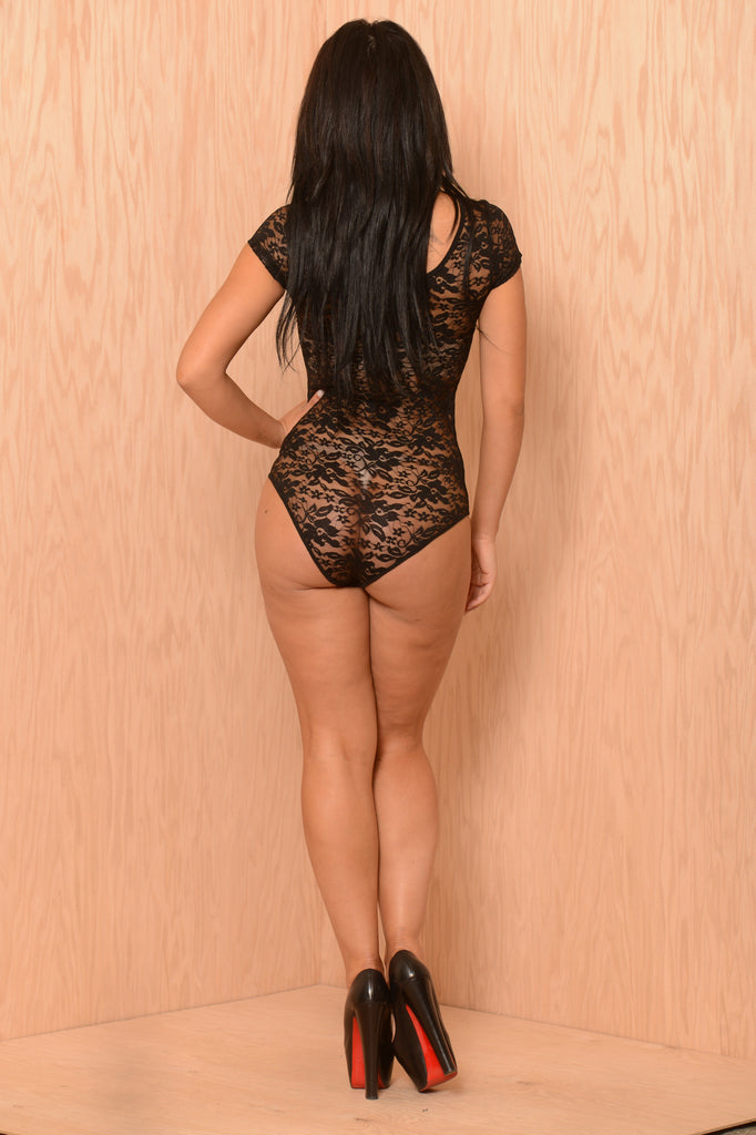 Lace Dreams Bodysuit - Black