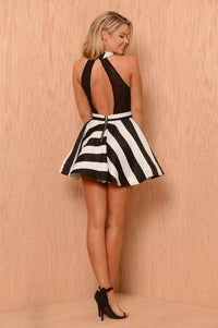 Take Me Away Dress - Black/White