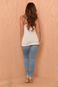 Anchor's Away Tank - Ivory