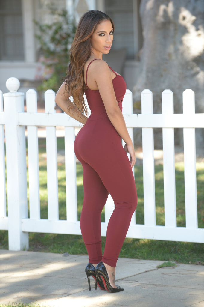 Rendezvous Jumpsuit - Burgundy