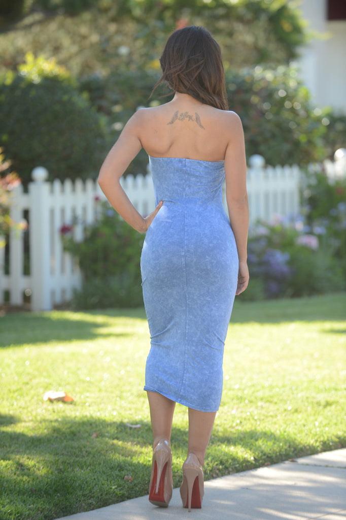 Eva's Crush Dress - Blue