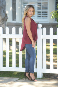Elyssa Top - Burgundy