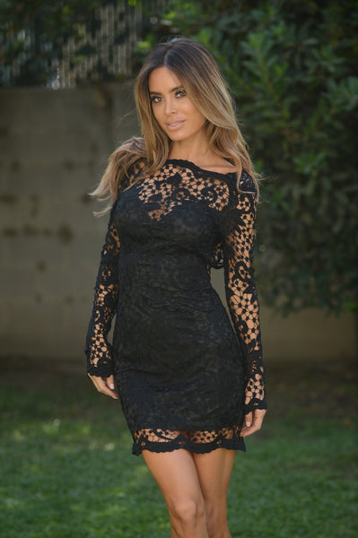 Coquette Dress - Black