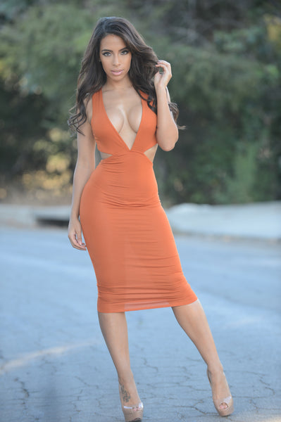 Isabel Dress - Rust