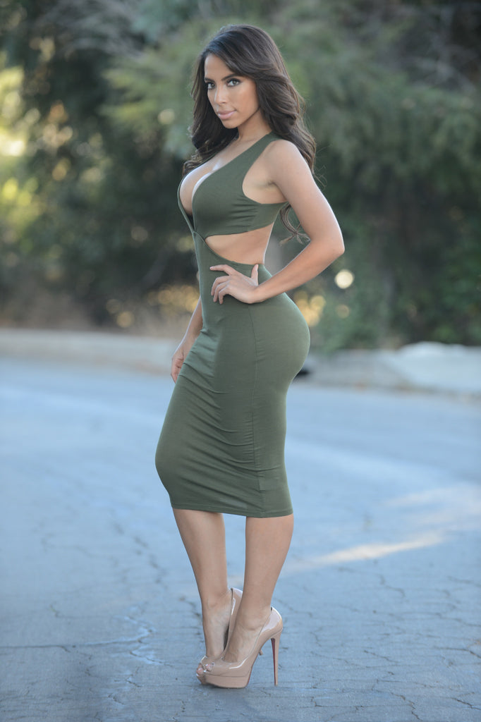 Isabel Dress - Olive