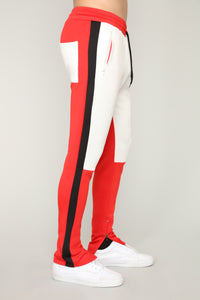 Dustin Track Pants - Red/White
