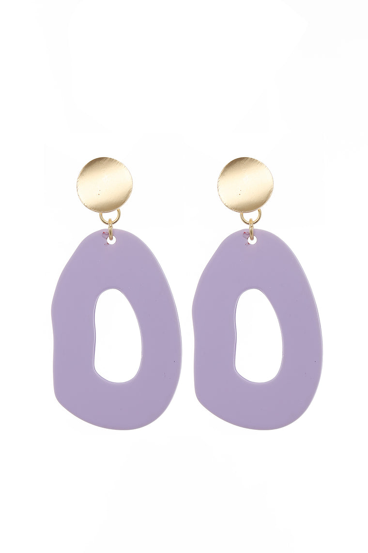 Shape Me Up Earrings - Purple