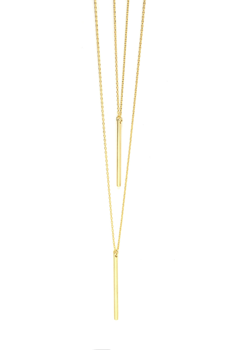 Bar Hopping Necklace - Gold