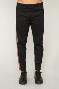 Olympic Crop Track Pants - Black
