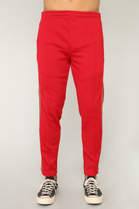 Olympic Crop Track Pants - Red