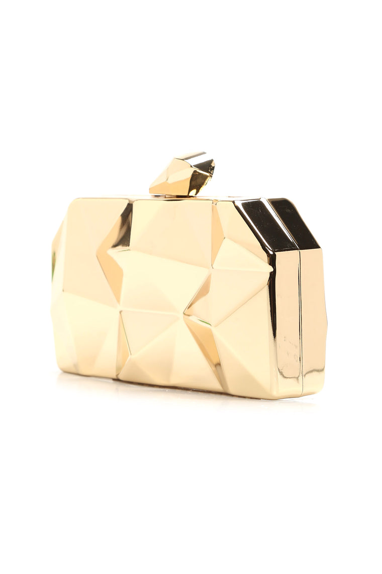 Vivianna Geometric Clutch - Gold