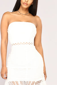 Can't Wait Crochet Dress - White