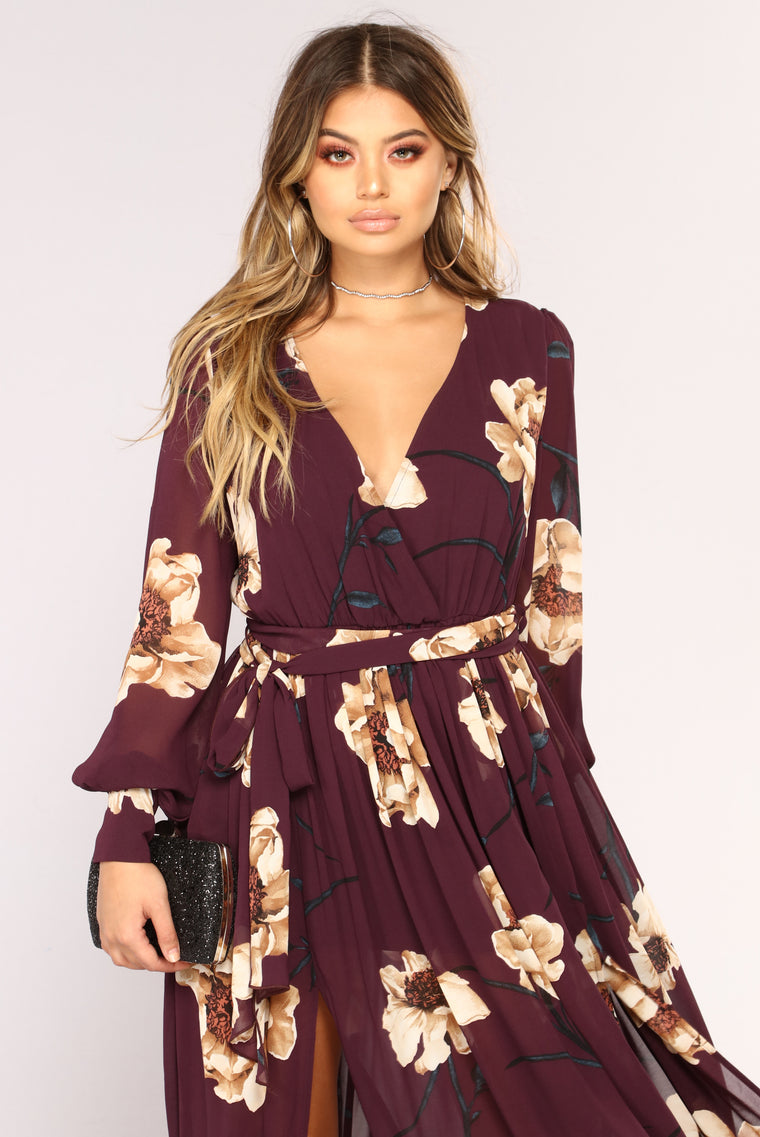 Park Avenue Maxi Dress - Plum
