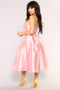 Prom Queen Flare Dress - Blush