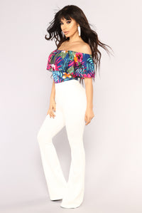 Happy Hour Floral Bodysuit - Multi