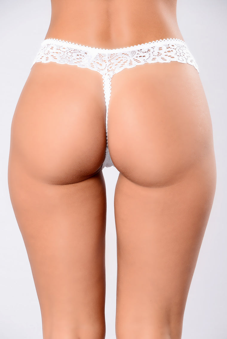 Women's Work Thong - White
