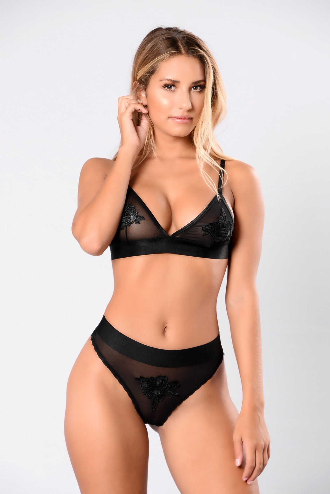 Love Therapy Thong Black Lingerie By Fashion Nova