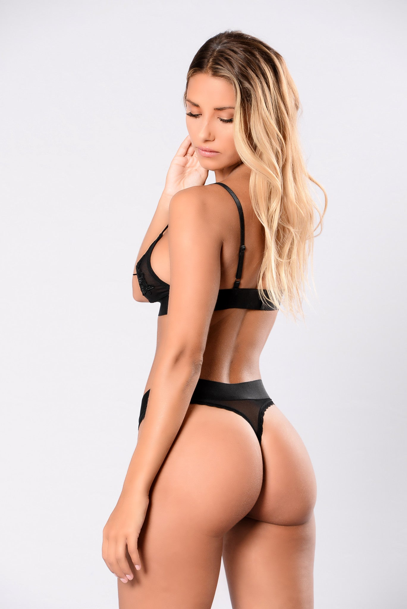 Love Therapy Thong - Black  Lingerie By Fashion Nova-6914