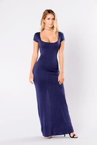 The Look Of Love Dress - Navy