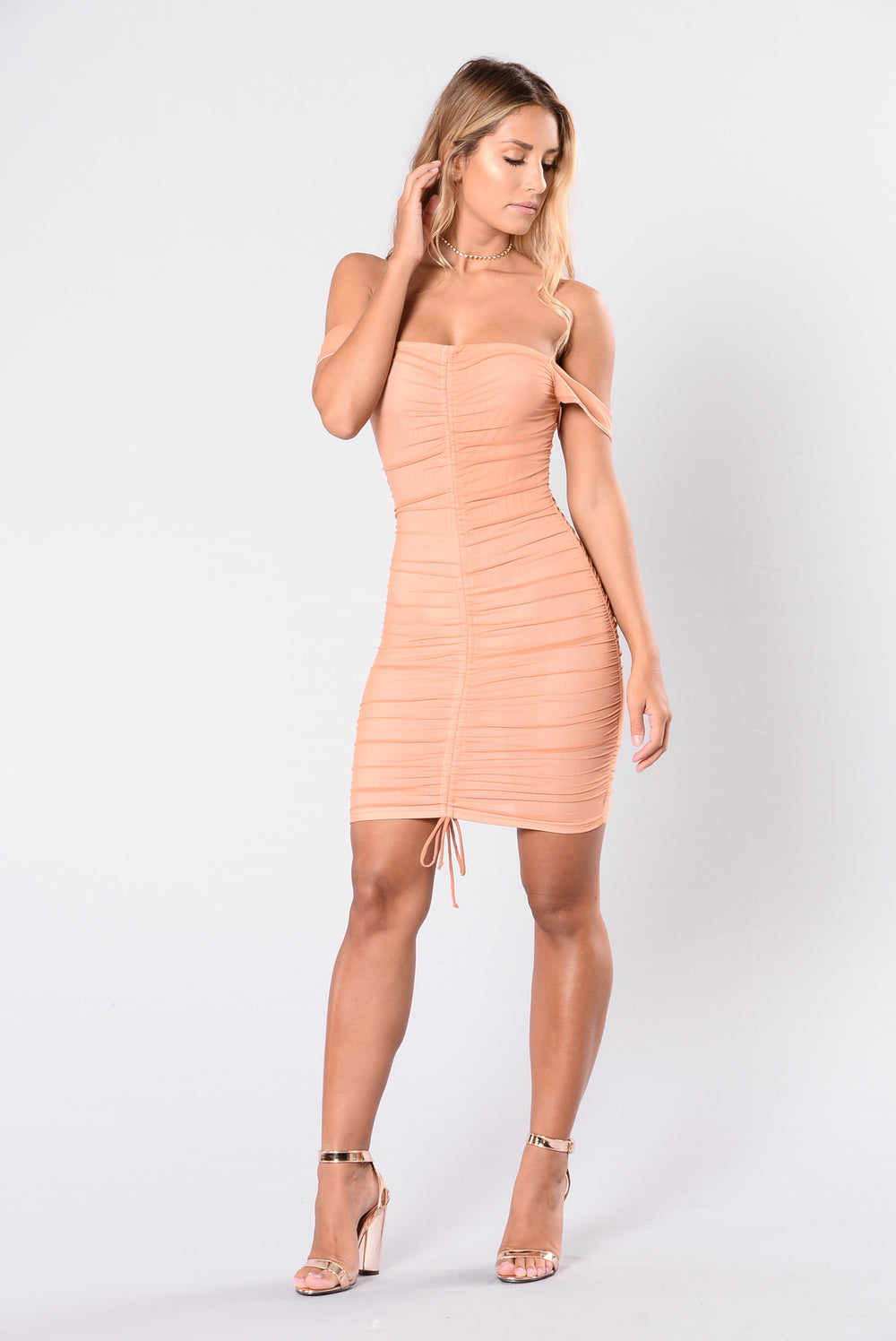 Blush Pink Dress What Color Shoes