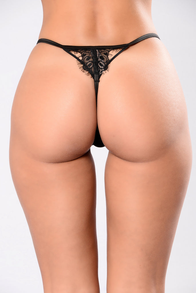 Bare It All Thong - Black