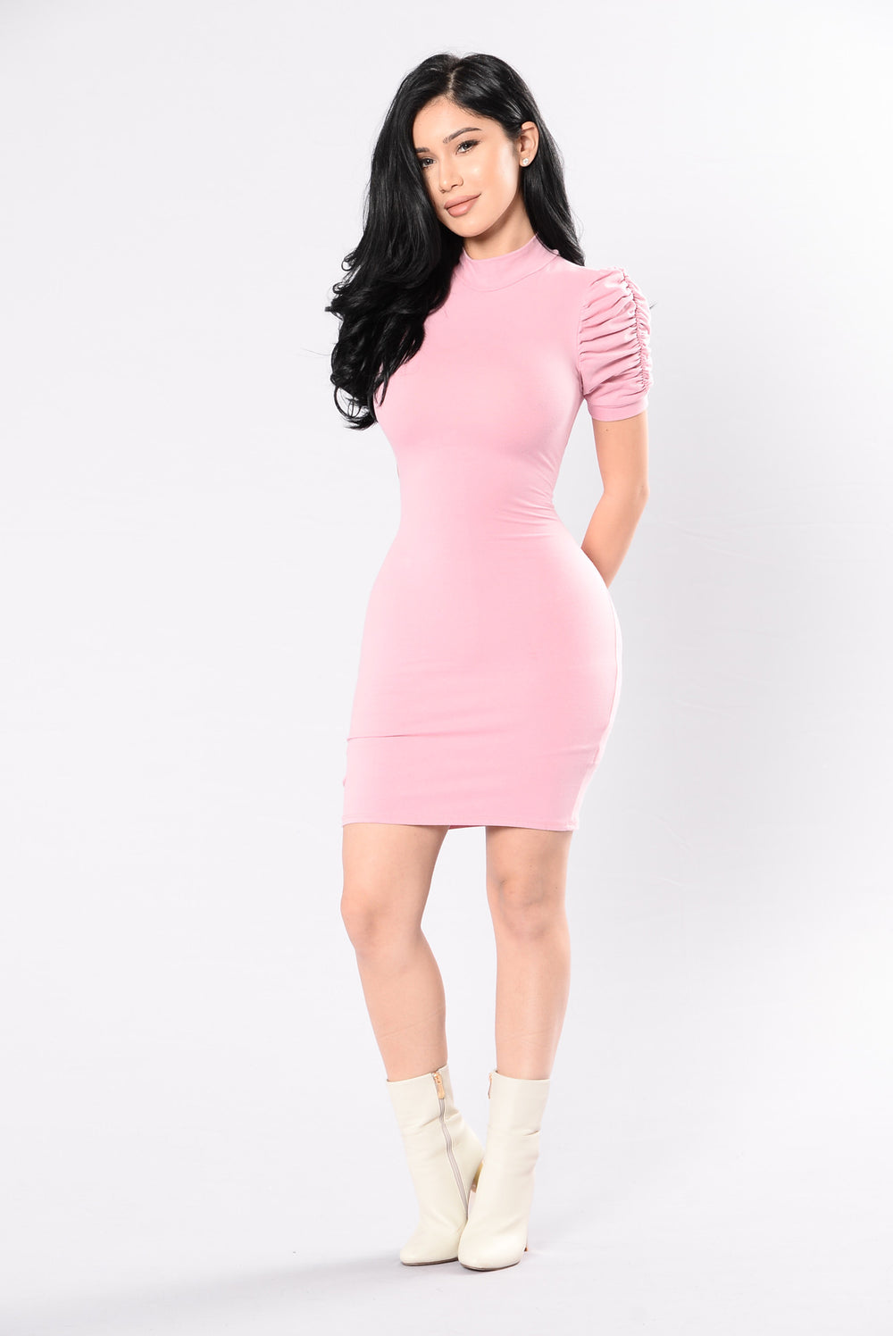 Doll Me Up Dress - Deep Pink