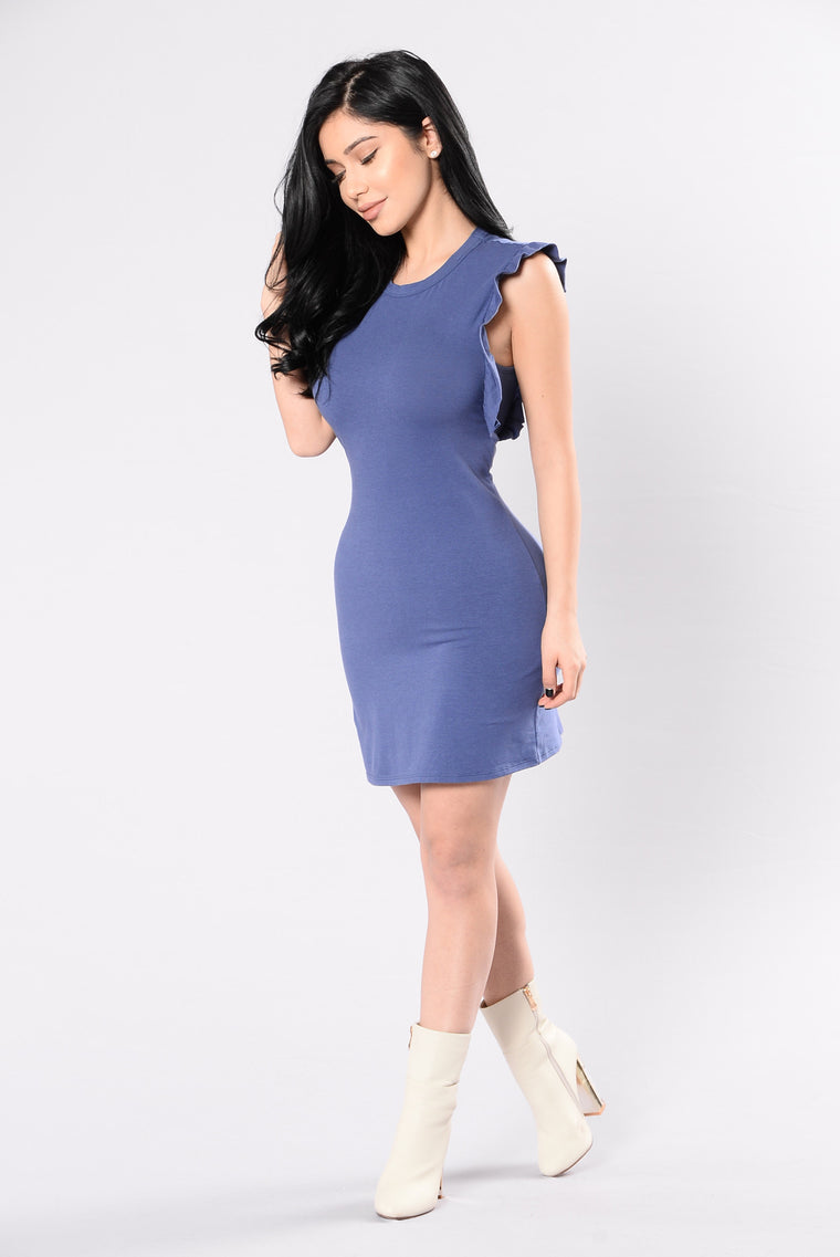 Rag Doll Dress - Blue Denim