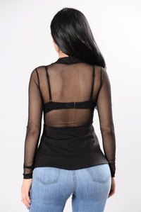 Never Compare Bandage Top - Black