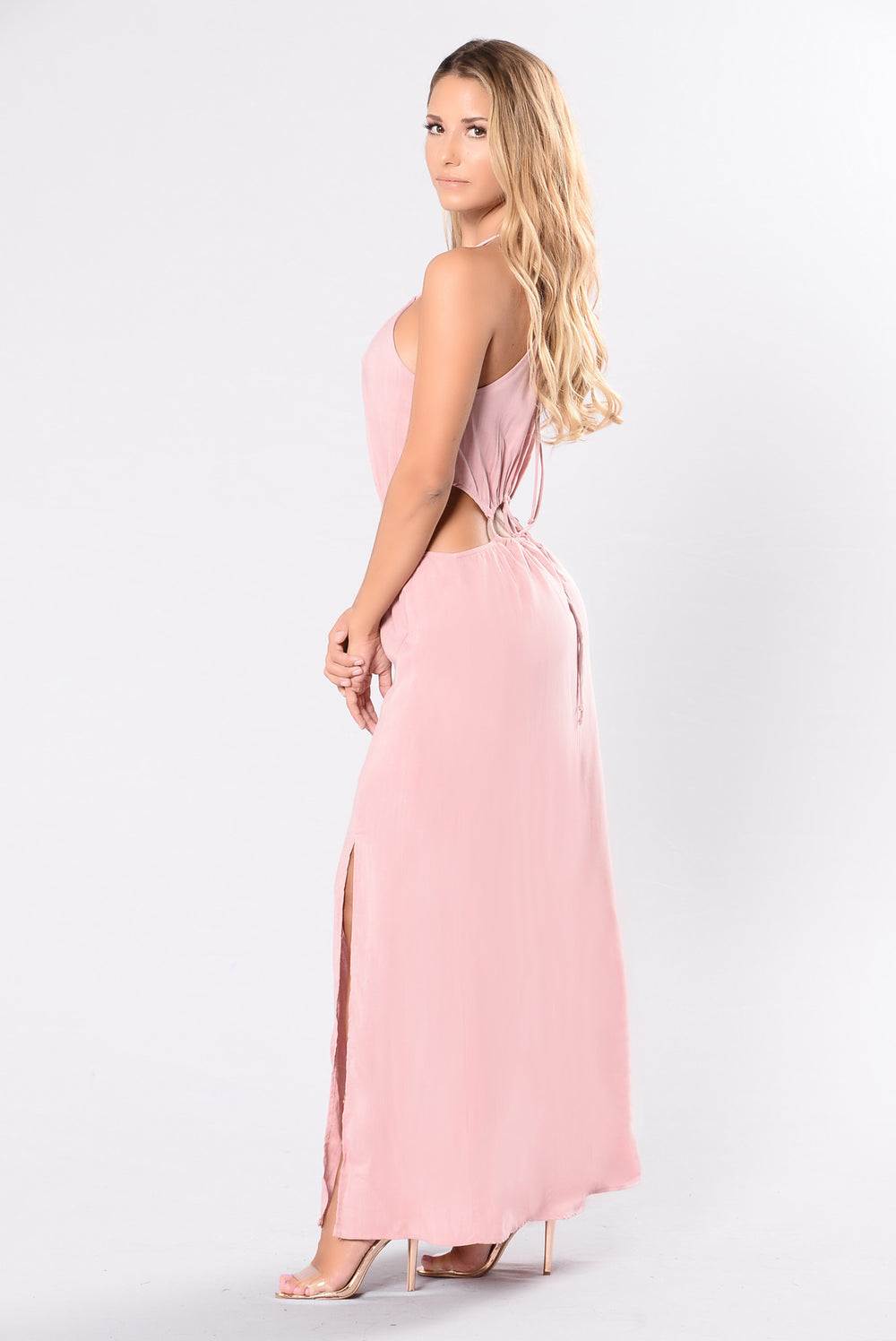 Slit Bit Dress - Mauve