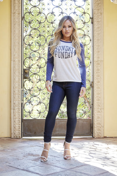 Sunday Funday Top - Navy