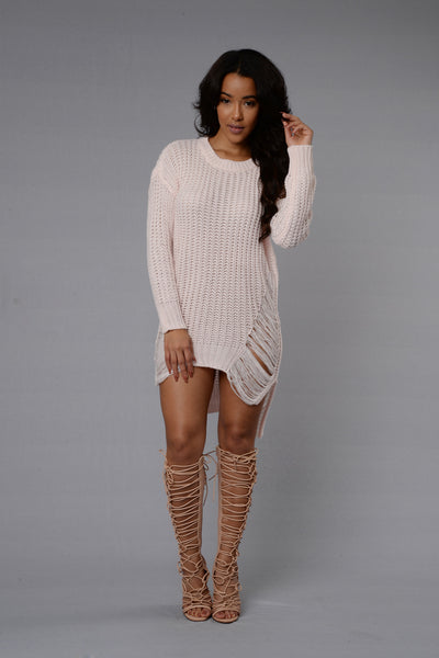 Unraveled Sweater - Pink